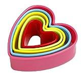 Demarkt 5 Stuck Ausstechformen Kunststoff Material Keksausstecher, Küchen zubehör für DIY Backen Pudding/Kuchen/Plätzchen/Kekse, Herzform Form