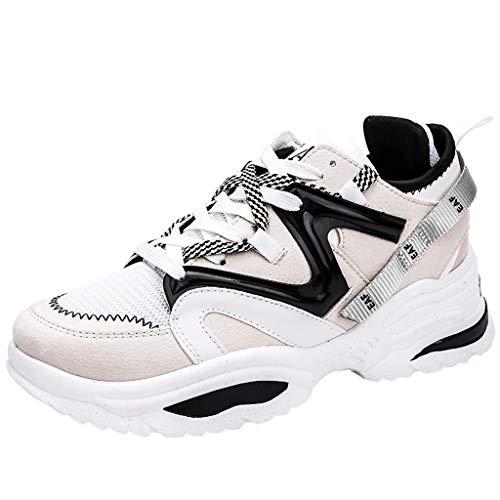 Riou Laufschuhe Herren Sneaker Turnschuhe Atmungsaktiv Erhöhung Plateau Mode Trend Sportschuhe für Outdoor Running Joggen Fitness Freizeit Schuhe 2019 Angebot Günstig