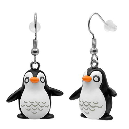 SoulCats 1 paio di orecchini pinguino