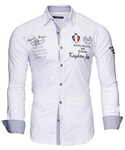 Kayhan Herren Hemd Monaco Weiß (M)