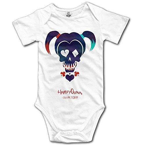 Baby Girls' Cute Funny Toddler Baby Onesie Suicide Squad Harley Quinn White 6M