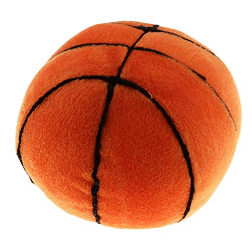 Fenteer Babyball Rasselball Stoffball Softball mit Glocken, Perfekte Größe für das Greifen der Babyhände - Basketball