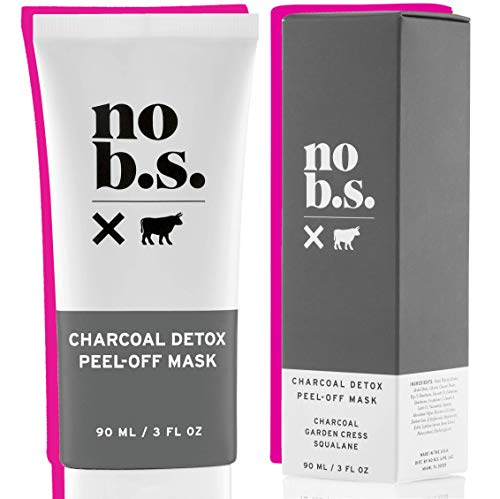 No B.S. Charcoal Peel Off Face Mask with Niacinamide - Deep Cleaning Blackhead Remover Mask - Painless Activated Charcoal Clay Face Mask. Painless Facial Treatment with Niacinamide and Squalane.