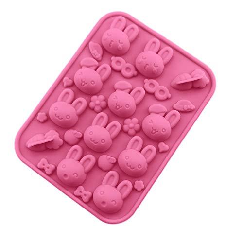 kekison Kuchenform Ostern Silikonform 3D Osterhasen Ei Blume Flüssige Karotte Silikon Fondantform Schokoladenform Schimmel Wird Seife Schimmel Motivbackformen