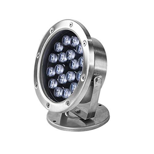 AWSAD Iluminación LED para estanques de 18 W con Control Remoto, luz subacuática Impermeable IP68, luz Colorida para paisajes (Color : with Remote Control, Size : 220v)