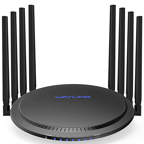 WiFi Router Extender, WAVLINK AC3000 Smart MU-MIMO Wireless Tri-Band Gigabit/High Speed WiFi Range Extender with Touchlink,4K Streaming/Gaming with USB 3.0 Ports Internet Router