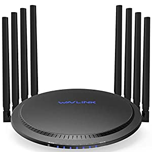 WAVLINK AC3000 Tri-Band Wi-Fi Router, Gigabit Wireless Router with 8 x 5dBi Omni-Directional Antennas/ 4 Gigabit LAN Ports (802.11ac Wave 2, 4X4MU-MIMO, USB 3.0, Guest WIFI, QoS)