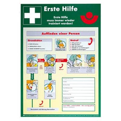 Betriebsaushang -' Erste Hilfe Anleitung' - Rettungszeichen - Rettungsschild Kunststoff