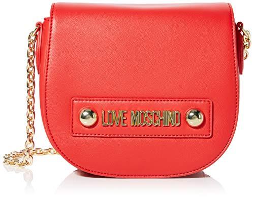 Love Moschino Damen Borsa Small Grain Pu Kuriertasche, Rot (Rosso), 15x20x8 centimeters