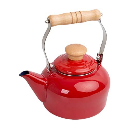 Wasserkessel Japanischen Stil Rot 1.5L Emaille Kessel Induktionsherd Gas Allgemeine Startseite Teekanne Porzellan Wasserkocher KKY
