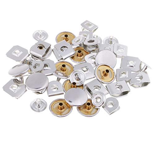 perfk 12 Sets 15mm Nähen Haken Und Ösenverschlüsse Für Hose Und Rock Silber