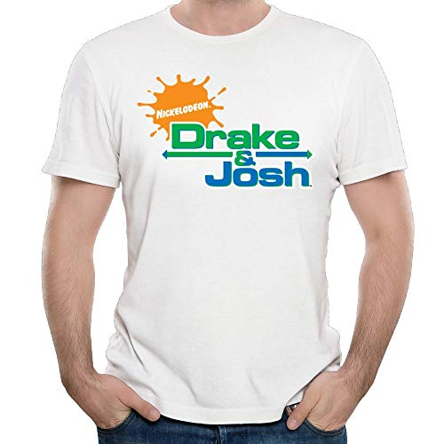 PRESENT Drake-&-Josh Mens Popular Short Sleeve Cotton T-Shirt White L