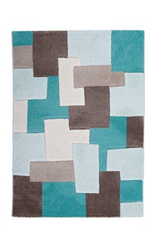Joli tapis durable de haute qualité avec contours découpés - Ce magnifique tapis brillant est fabriqué avec du fil Maxbrillance, qui s'adapte à tous les styles