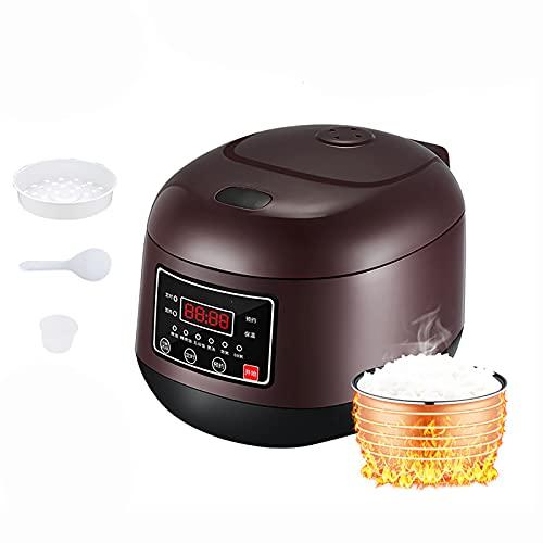 Cuociriso (3L) piccolo Rice cooker domestico, 9 funzioni, prenotazione 24 ore e conservazione del calore, per 2-4 persone