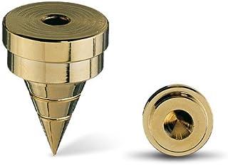 Oehlbach Spike S 2000   Hochwertiges Spike Set aus Vollmetal mit Unterlegscheibe   Perfekt für kleine & große Lautsprecher   4 Stück   schwarz