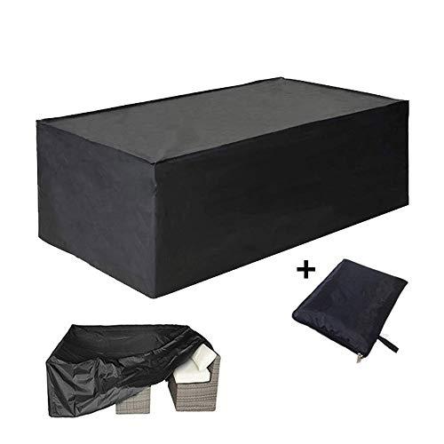 AMDHZ Meubles de Jardin Canapé d'extérieur Couverture Protecteur Patio Table et chaises étanche Anti-poussière Four Seasons Universal, Noir (Color : Noir, Size : 300X100X100cm)