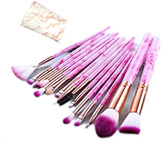 Makeup Brushes Complete Professional luxury High quality Set/15pcs rose pink With a bag use for eyeshadow,eyeliner,lip,con...