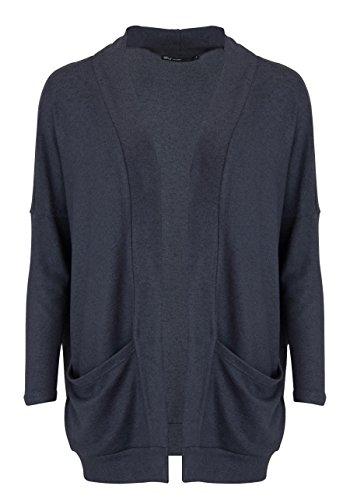 ONLY Damen onlMAYE L/S Open Cardigan CC KNT Strickjacke, Grau (Dark Grey Melange), 38 (Herstellergröße: M)