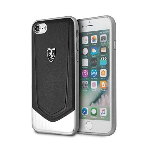 Ferrari FEHTOHCI8LBK Funda de Cuero Genuino para Apple iPhone 8 Plus/7 Plus - Negro
