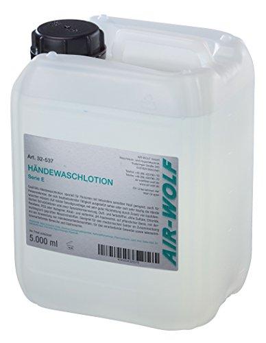 AIR-WOLF Flüssigseife und Händewaschlotion, Serie E, halogen- und chloridfrei, 5 Liter Kanister