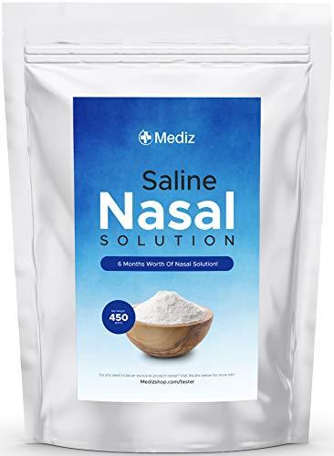 Neti Pot Salt (6 Months Worth), Neti Pot Salt Packets, Saline Packets Sinus Rinse, Sinus Rinse Packets for Netty Pot, Neti Pot Sinus Rinse Nasal Saline, Nasal Wash, Nasal Salt, Nasal Rinse