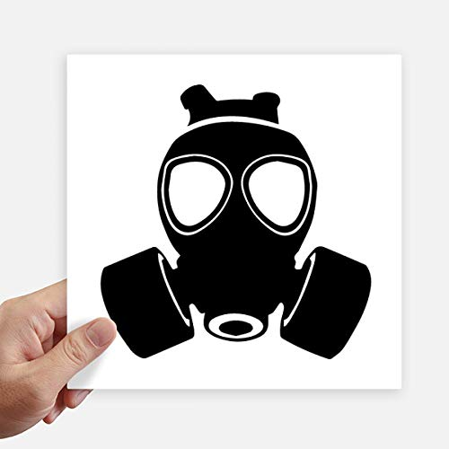 DIYthinker Pm2.5 Skelet Verontreiniging Gas Masker Vierkante Stickers 20Cm Wandkoffer Laptop Motobike Decal 4 Stks
