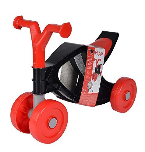 BIG - Flippi - Laufrad in rot und dunkel-grau, Rutschrad mit bis zu 25kg Tragkraft, handlich und platzsparend, Kleinkinder Fahrrad für Kinder ab 18 Monaten