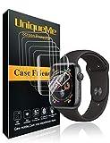 UniqueMe Per Pellicola Protettiva Apple Watch 44mm (Series 4/5 Compatible), [6 Pezzi] [Bubble-Free]...