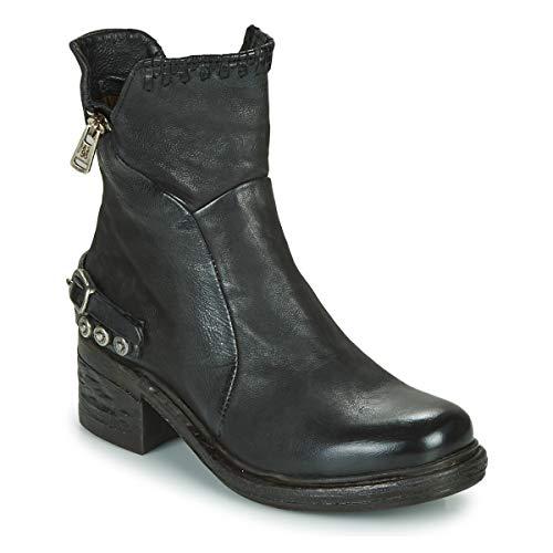 A.S.98 Damen Stiefelette 261231 Boots Leder Blockabsatz Schwarz1760365031