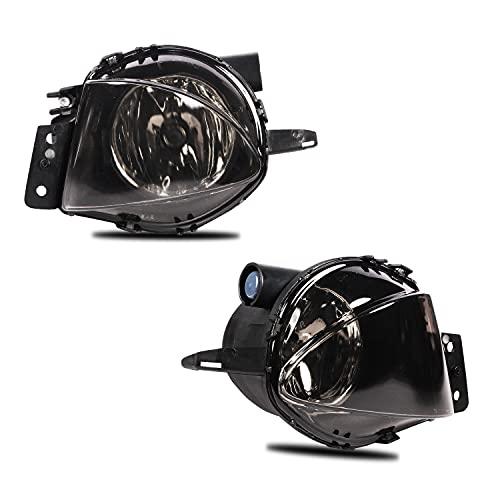 Feux anti-brouillard compatibles avec Série 3 (SDN/WGN) (E90/E91) 2005-2008 Une paire d'ampoules antibrouillard (lentille fumée)