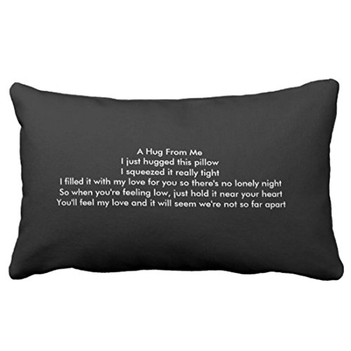 Emvency Throw Pillow Cover I Miss You Boyfriend Decorative...
