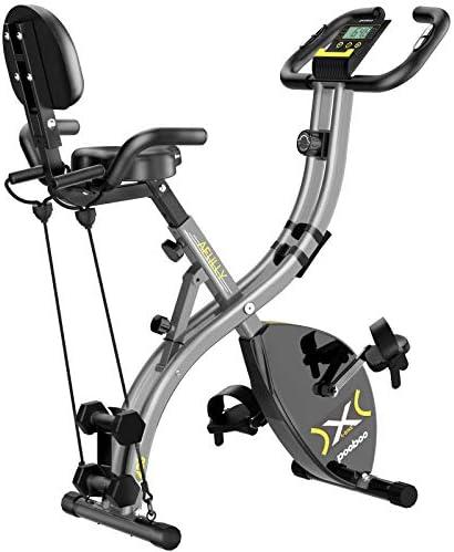 pooboo Folding Magnetic Exercise Bike Adjustable Resistance Foldable Cycling Bike Indoor Upright product image