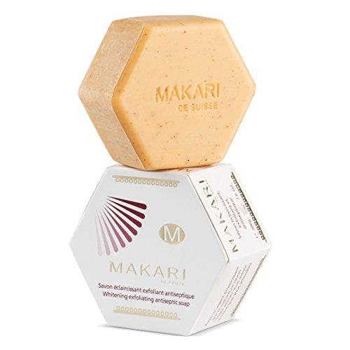 Jabón Makari clásico exfoliante antiséptico de blanqueamiento, 200 g Pastilla de jabón...