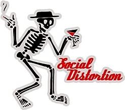 Social Distortion American punk rock band skeleton logo sticker decal 5