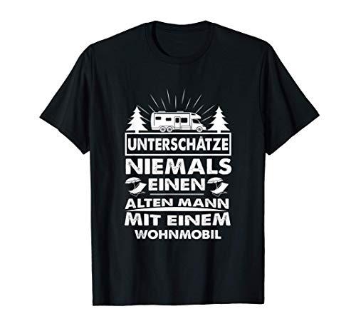 Unterschätze niemals einen Alten Mann mit einem Wohnmobil T-Shirt