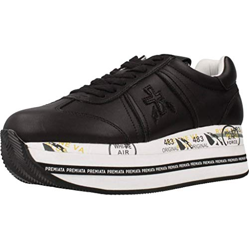 PREMIATA Sneakers Beth Nera in Pelle - 40