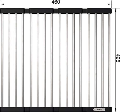 Blanco 238482 Esterilla plegable, Negro y plateado, 425 mm