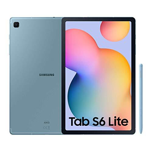 """SAMSUNG Galaxy Tab S6 Lite - Tablet de 10.4"""" (LTE, 4G, Procesador Exynos 9611, RAM de 4GB, Almacenamiento de 64GB, Android 10) - Color Azul [Versión española] (Reacondicionado)"""