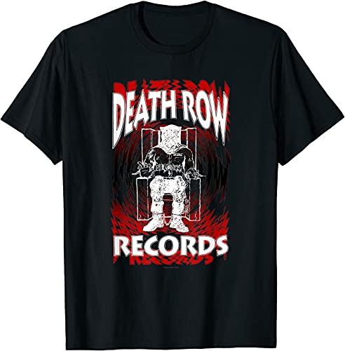 Death Row Records Spinning Gradient Logo T Shirt Funny Size S 5XL Men T Shirt 100% Cotton Sleeve Shirt Black 3XL