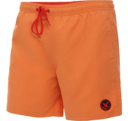 Ladeheid Herren Badehose Badeshorts Beachshorts Schwimmhose LA40-128 (Orange, Medium)