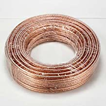 InstallerParts 14AWG 2-Conductor Polarized Copper Speaker Wire (Clear, 50 Feet)