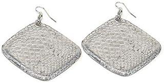 aluminati upcycling lifestyle Damen-Ohrringe - 100% recyceltes Aluminium - ModellSerpente Print Losange Pleine