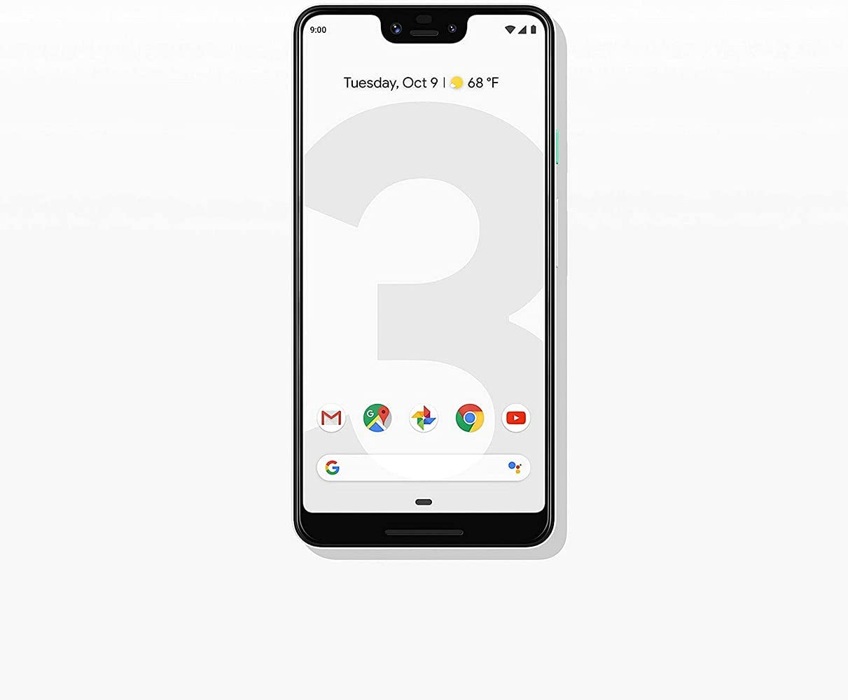 Google Pixel 3 XL 64GB Unlocked GSM & CDMA 4G LTE Android Phone w/ 12.2MP Rear & Dual 8MP Front Camera - Clearly White (Renewed)