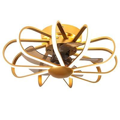 Luz del ventilador de techo, Ventilador de techo de luz de techo con iluminación LED Luz regulable con control remoto Ajustable 6 Velocidades de viento Moderno Techo Dormitorio Luz de Luz Sala Comedor