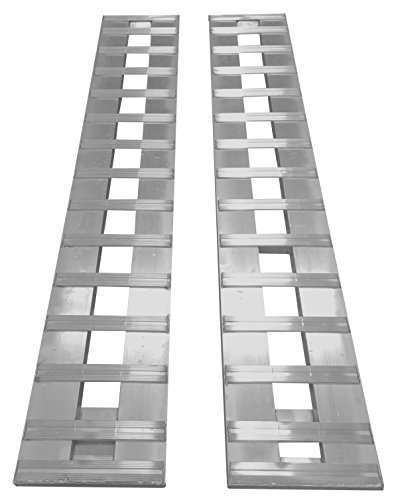 "Gen•Y Aluminum Ramps Truck Trailer car ramps HEAVY DUTY 1- Set, two ramps = 10,000lb capacity 15"" wide (10') 120"" Long"