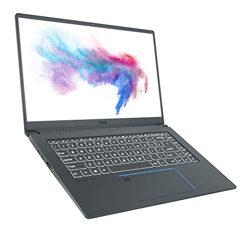 MSI Prestige 15 A10SC-012 (39,6 cm/15,6 Zoll/Full-HD/100% sRGB) Creator Laptop (Intel Core i7-10710U, 16GB RAM, 512GB PCIe SSD, Nvidia GeForce GTX1650 4GB, Windows 10)
