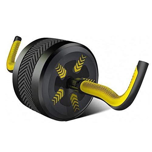GUONING-L Übung Ab Roller Rad Automatische Rebound Fitness Bauch Männer Startseite Folding Fitness Bauch Mute Bauch Rad Bauchtrainer (Farbe: Gelb, Größe: 20 * 14cm) ab Bauch