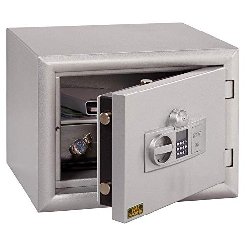 Burg Wächter Diplomat MTD 34 F60 E - Wertschutzschrank - Tresor - mit PIN-Code & Fingerprint - Silber - 380x500x462mm HxBxT
