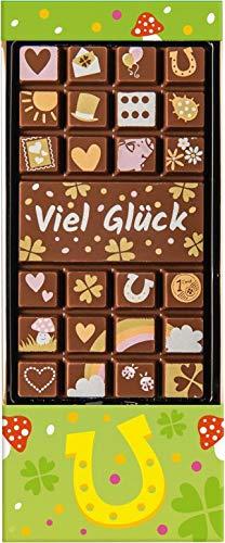 Weibler Confiserie Geschenkpackung Tafel mit Gruß Viel Glück 70 g