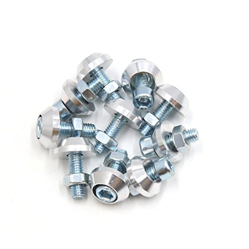 sourcingmap 10x Silber Aluminiumlegierung Roller Motorrad Kfz Kennzeichen Bolzen Schrauben DE de